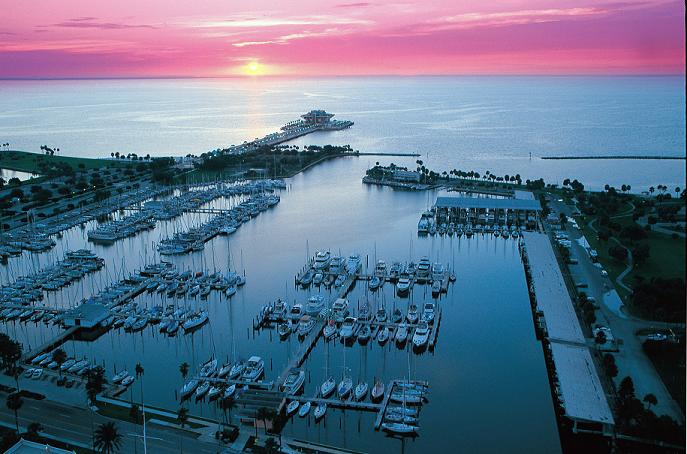 St Pete Marina Sunrise